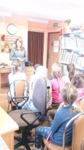 Lekcja biblioteczna w Jabłonicy Polskiej