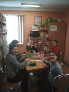Rękodzieło Wielkanocne w bibliotece w Jabłonicy Polskiej